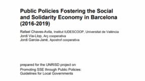 Politiques publiques en faveur de l'économie sociale et solidaire à Barcelone (2016-2019)